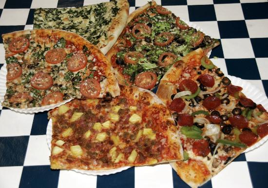 Rivals Waikiki: Assorted pizzas