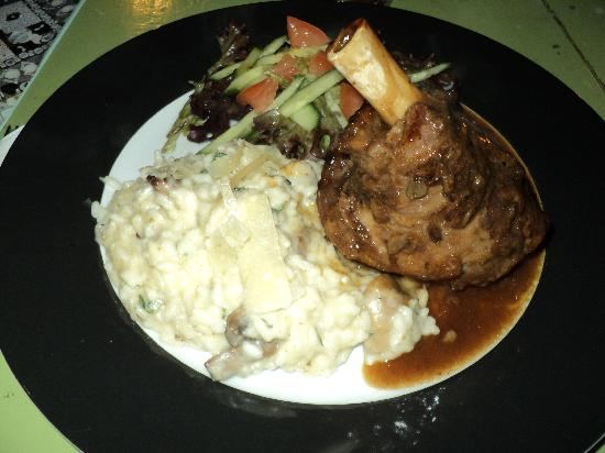 Tre Broer Cafe and Bar: Lamb Shank and Risotto