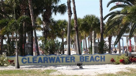 Clearwater Beach sign