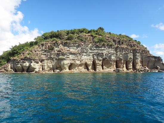 English Harbour, Antigua: Pillars from the boat
