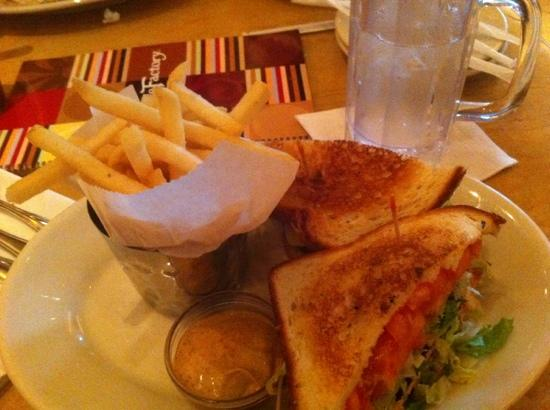 blackened chicken sandwich - Picture of The Cheesecake Factory ...