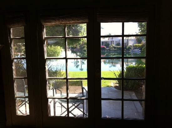 The Chateau at Lake La Quinta: View from room. Very Nice!