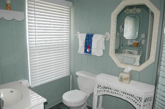 Laurel Springs Lodge B&B: The bathroom, view one of Fern Suite