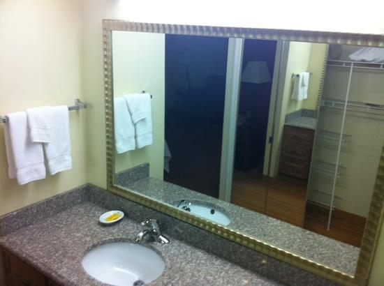 Residence Inn Kalamazoo East: sink & closet area
