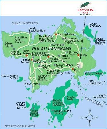 Location Map Kuva Bayview Hotel Langkawi Kuah Tripadvisor