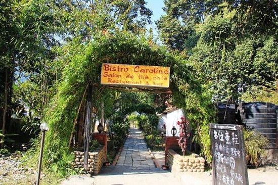 entrance to Bistro Caroline