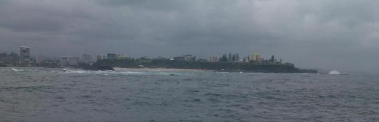 The view of Fingal, Duranbah and Coolangatta on the way back.  Although the weather closed in, t