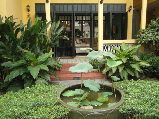 Baan Pra Nond Bed & Breakfast: Lots of beautiful plants in the entrance of the Baan Pra Nond