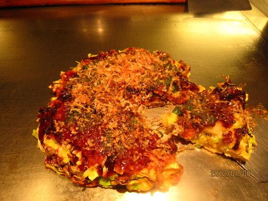 Nidaime Kitaro Ashiya: 牡蠣のお好み焼き