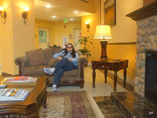 Holiday Inn Express Hotel & Suites Beaumont-Oak Valley : Relaxing In Lobby