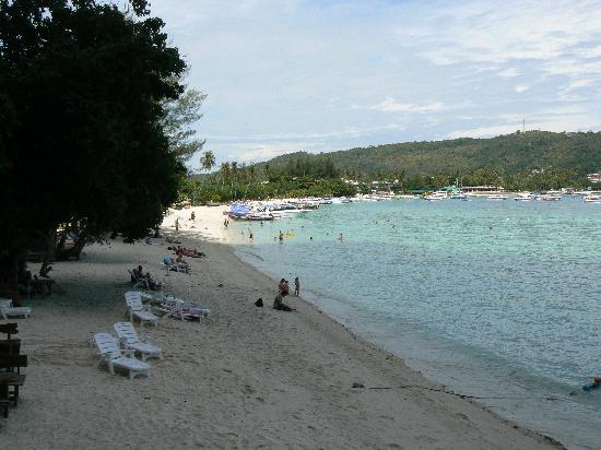 Phi Phi Popular Beach Resort: la plage devant l'hotel
