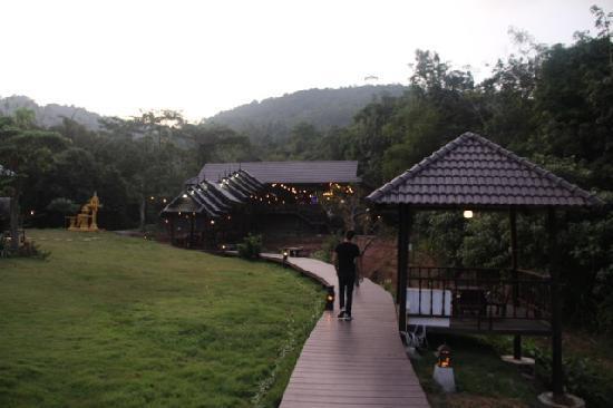At Home Resort: restaurant seen from garden