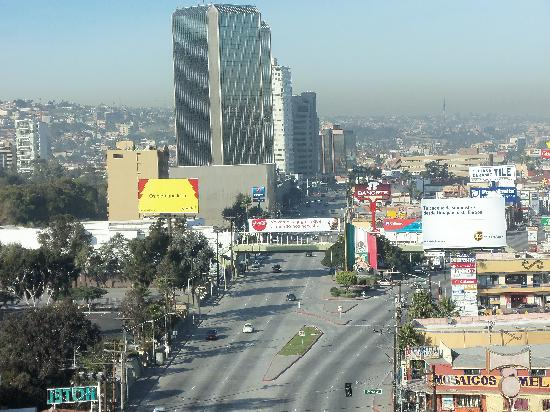 Marriott Tijuana: town from lounge window