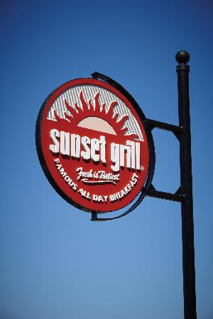 Sunset Grill at Blue: Pole sign