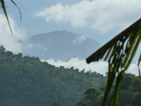 mt agung from vienna beach