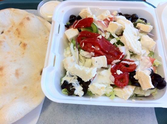 Al-Zaytoun Kabob and Grill: Greek salad! that's all feta cheese!