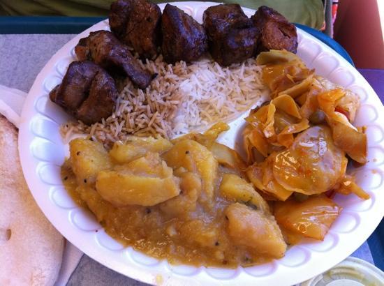 Al-Zaytoun Kabob and Grill: lamb with potato and cabbage