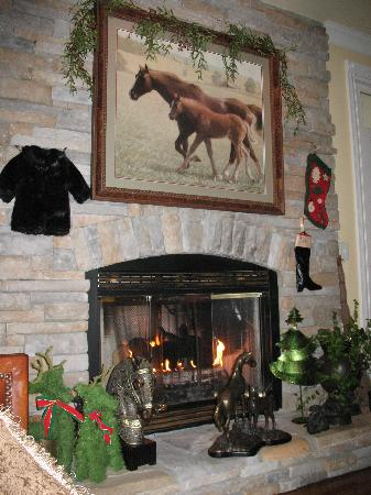 Bluegrass Country Estate : Beautiful Fireplace Room