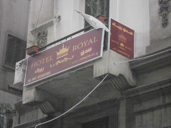 Hotel Royal: Room #7 from the outside of hotel