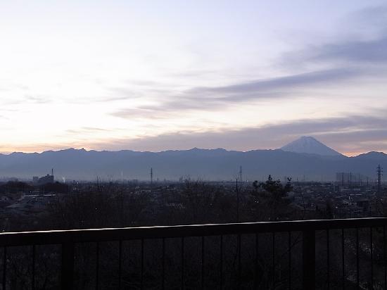 Hotel Kaminoyu Onsen: 2階の露天風呂から見た富士山