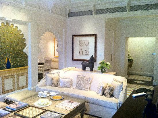 Living room of the rajput suite picture of the taj mahal - The living room mumbai maharashtra ...