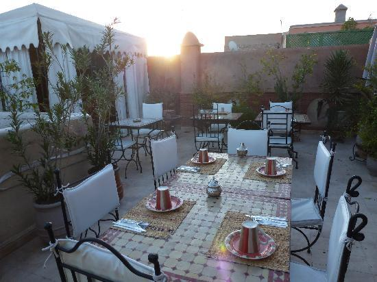 Riad Kechmara: la terrasse