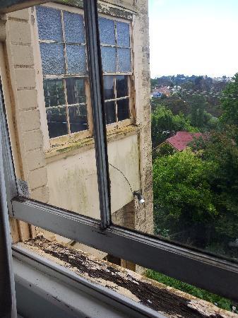 The Cecil Guesthouse: The Room with a view. Look at the quality of the window sill.