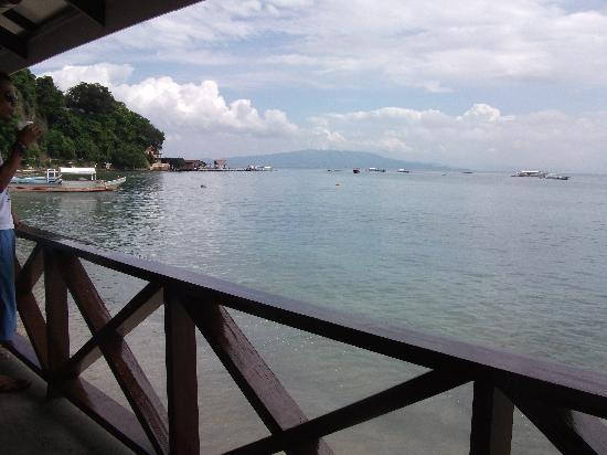 Angelyn's Dive Resort: Ocean from Cafe