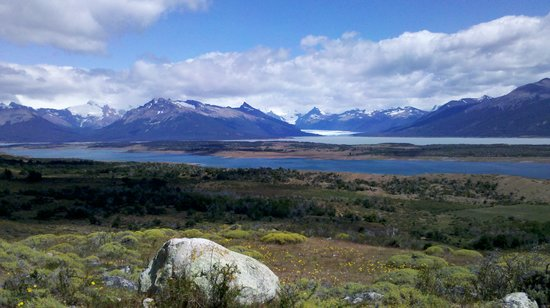 Cabalgata del Glaciar : View of the Lago Roca and Perito Moreno Glaciar
