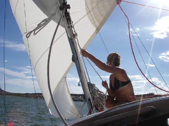 Elephant Butte, Nuevo México: Sailing on the Lake