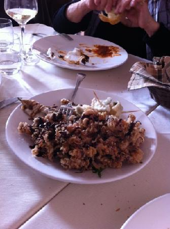 Il Canneto : frittura di moscardini ....