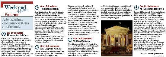 Piccola Sicilia Ragolia: dal corriere della sera del 14 gennaio