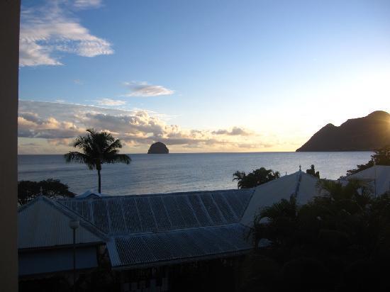 Diamant Beach: Blick auf den Rocher vom Balkon