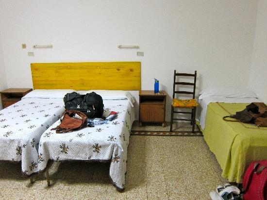 Albergo Marcella: huge three-bedroom room, picture only shows about 1/3 of it