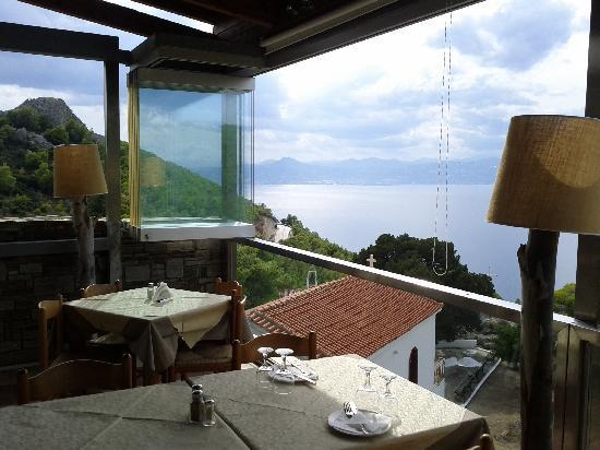 Panorama Restaurant: Corinthian gulf view, from restaurant's veranda