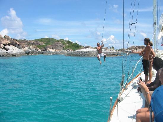 White Wing Sailing: Splashing around at Virgin Gorda