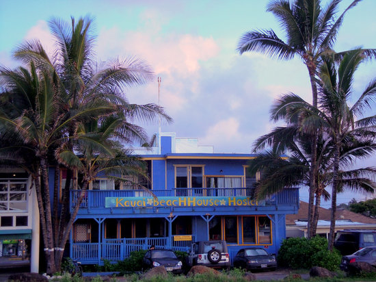 Kauai Beach House (from the ocean side); sunrise view