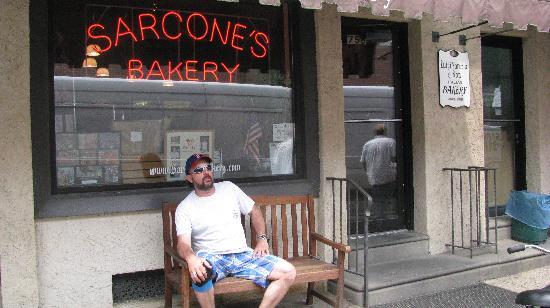 Sarcone's Deli: myself outside Sarcones