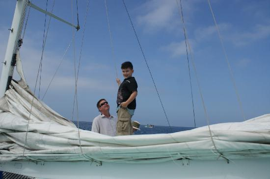 Humu Humu Day Charters: Our nephew was the only kid on our excursion, but he had a great time exploring the boat and sno