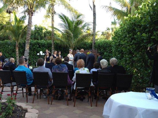 The Bay House: Wedding Ceremony on Patio