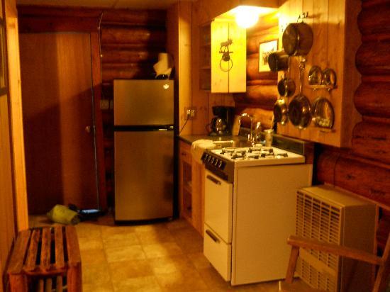 Silver Gate Cabins: Kitchen area