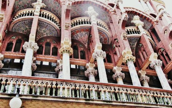 Barcelona, España: Palau de la musica also designed by lluis Domenech Montaner
