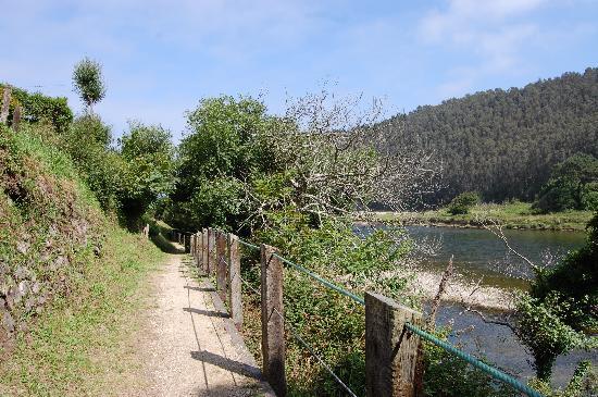 Hotel Canero: camino del hotel a la playa de Cueva ( Caner-Asturias )