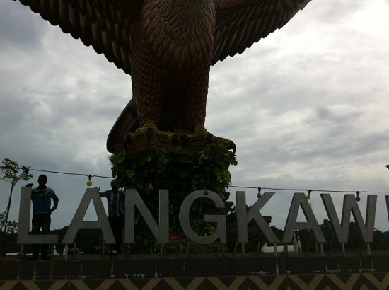Dataran Lang: Front View Of Eagle Statue