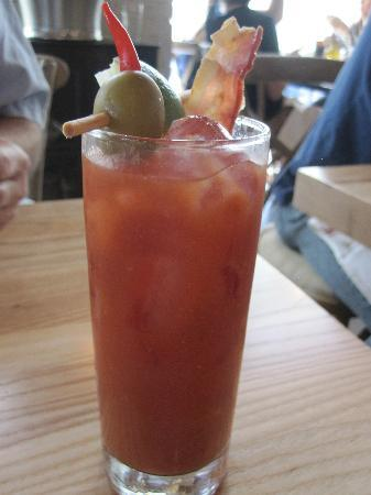 Yardbird - Southern Table & Bar : Bloodymary with bacon strip
