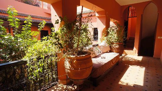 Riad Ajmal: First floor overlooking windows of our aparment
