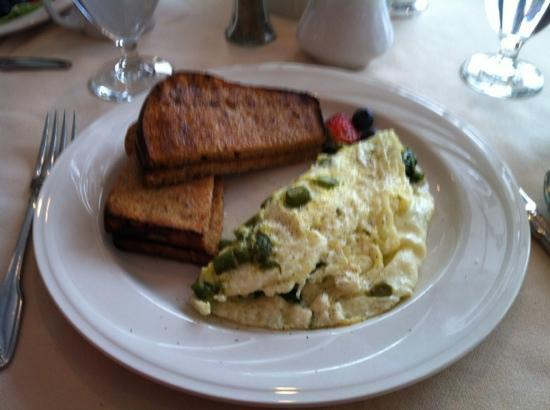 Stafford's Perry Hotel: that gorgeous egg white omelet with asparagus & feta