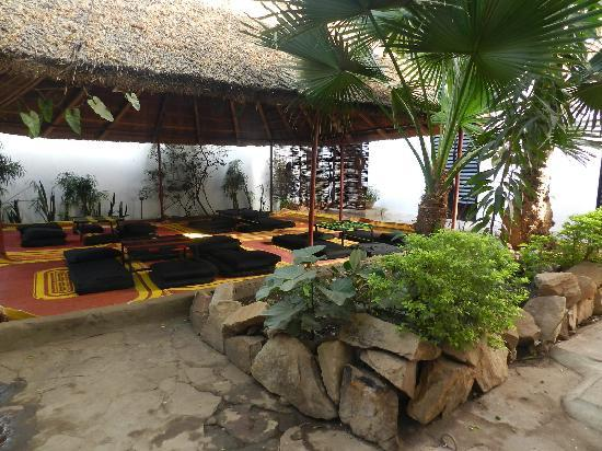 Auberge Djamilla: giardino e ristoro