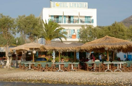 Livadia Hotel: Hotel from the beach