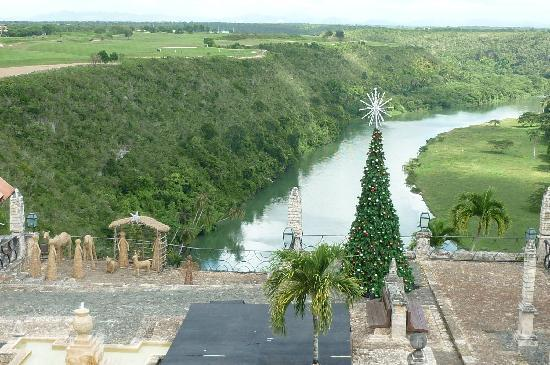 Altos de Chavon: View down to River Chavon
